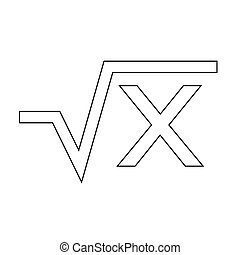 Square root equation icon Illustration Art