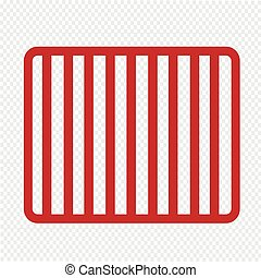 Prison bars jail icon Illustration Art