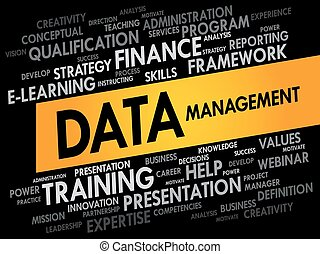 Data Management word cloud, business concept