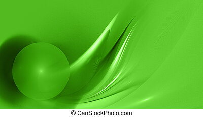 abstract green fractal image