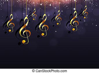 gyllene, noteringen, musik