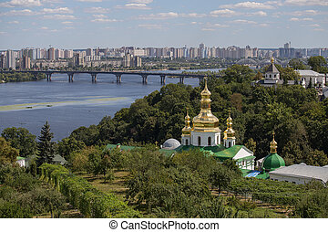 Kiev-Pechersk Lavra monastery, Ukraine - View from the Kiev...