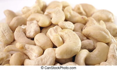 Pile of cashew nuts