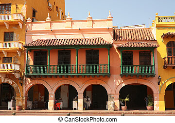 street of Cartagena de Indias, Colombia - Dowtown of...
