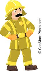 Serious firefighter or fireman in u - Serious funny...