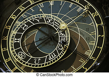 Prague orloj astronomical clock - This is detail of...