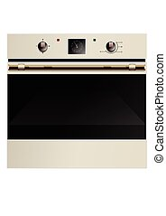 Electric oven isolated on the white background