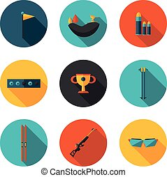 flat icons biathlon - best flat icons biathlon in vector...