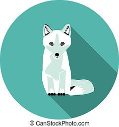 flat icons Arctic Fox - best flat icons Arctic Fox in vector...