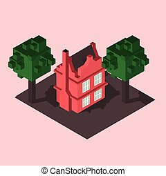 private house isometric