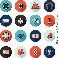 icons gambling in vector format