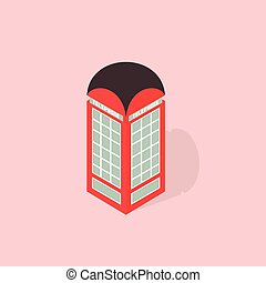 phone booth isometric
