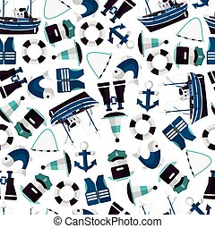 seamless pattern of industrial fishing