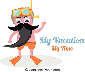 my vacation time - my vacation my time in vector format...
