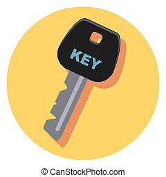 key circle icon with shadow.eps