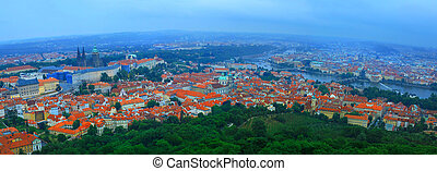 Panoramic view to old town - June 2015 Prague, Czech...
