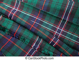 Tartan - Scottish tartan pattern, part of a traditional kilt
