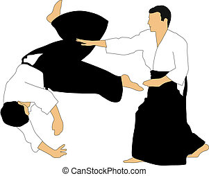 Aikido - Demonstration of aikido skills and techniques