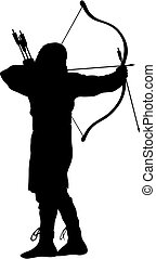 Archer - Abstract vector illustration of ancient archer...