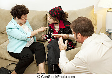 Family Counseling - Time Out - Mother and her rebellious...