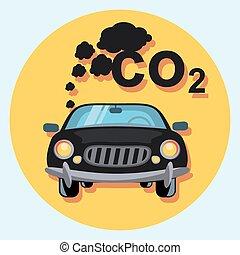 car pollution symbol