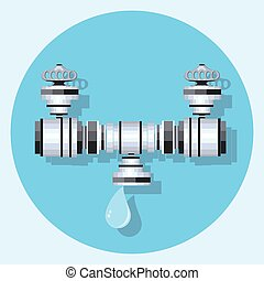 pipe circle icon with shadoweps - pipe circle icon with...