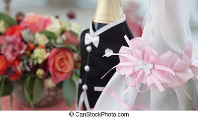 Wedding Champagne Bottles - Decorated Wedding Champagne...