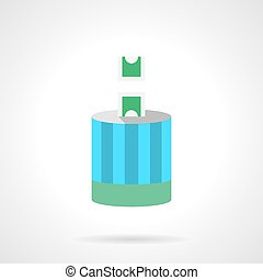 Charitable contribution flat color vector icon - Charity...
