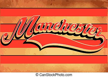 MAnchester typography sports graphic