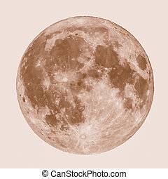 Retro looking Full moon - Vintage looking Full moon seen...