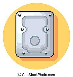 hard disk circle icon with shadow.eps - hard disk circle...