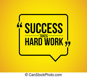 success takes hard work quote illustration design graphic