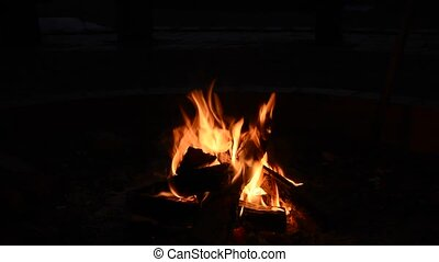 Campfire in the night - Bonfire, Campfire in the night