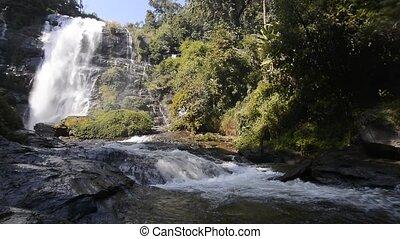 Wachirathan Waterfall - Beautiful silky waterfall flow...