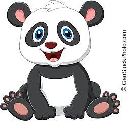 Cute panda cartoon - vector ilustration of Cute panda...