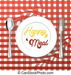 happy meal vector