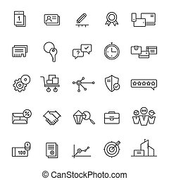 Icons for landing pages and online shops Thin lines - 25...