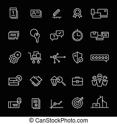 Icons for landing pages and online shops White - 25 icons...