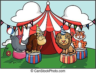 animal circus party attraction