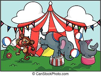 cute animal circus attraction