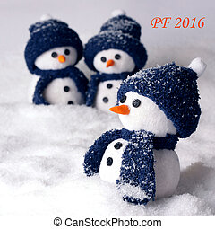 Happy new year pf 2016 - Happy new year PF 2016 with snowman...