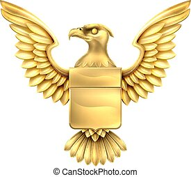 Gold Eagle Shield