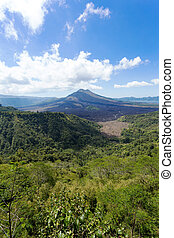 Batur volcano and Agung mountain, Bali - Batur volcano and...