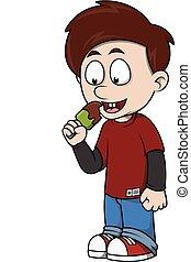 Child eat ice cream