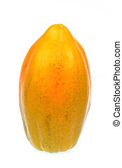papaya - delicious organic papaya on white background, sweet...