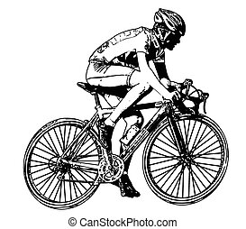 race bicyclist 2 - race bicyclist illustration 2 - vector