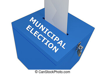 Municipal Election concept - Render illustration of...