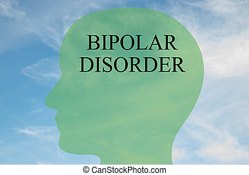 Bipolar Disorder concept - Render illustration of Bipolar...