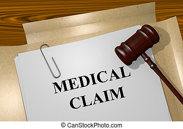 Medical Claim concept - Render illustration of Medical Claim...