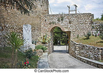 entrada, de, a, castelo, de, Lamia,